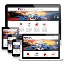 Responsive versions of the international shipping business website
